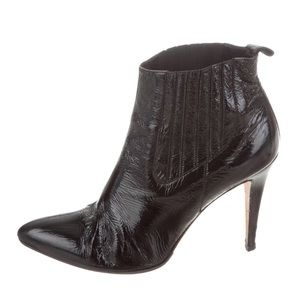 Brian Atwood Leather Ankle Boots 38.5